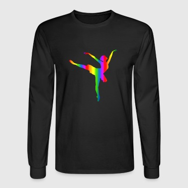 Colorful Ballerina Rainbow - Men's Long Sleeve T-Shirt