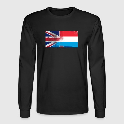 British Luxembourger Half Luxembourg Half UK Flag - Men's Long Sleeve T-Shirt