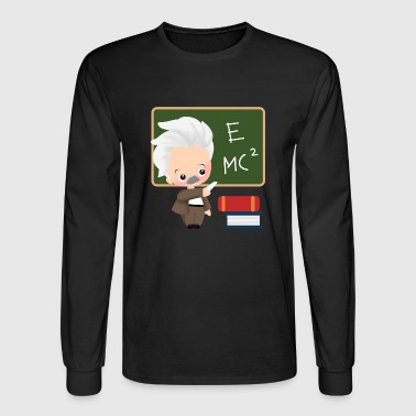 albert einstein school physiker physician - Men's Long Sleeve T-Shirt
