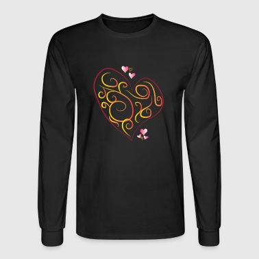 rotes herz red heart valentine valentinstag liebe7 - Men's Long Sleeve T-Shirt