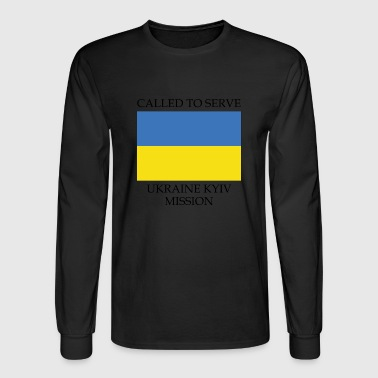 Ukraine Kyiv LDS Mission Called to Serve Flag - Men's Long Sleeve T-Shirt
