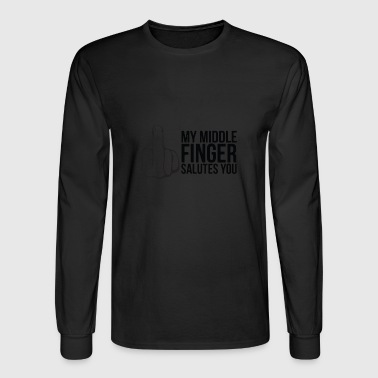 GIFT - MIDDLE FINGER - Men's Long Sleeve T-Shirt