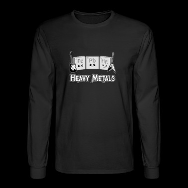 Heavy Metals: Periodic Table of Elements - Men's Long Sleeve T-Shirt