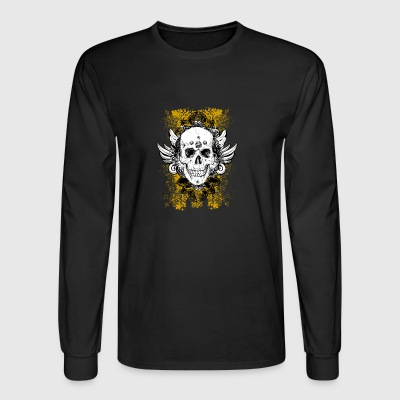 Grunge Skull - Men's Long Sleeve T-Shirt