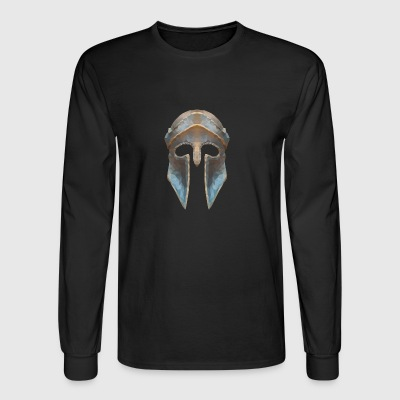 Gladiator helmet low polygon effect - Men's Long Sleeve T-Shirt