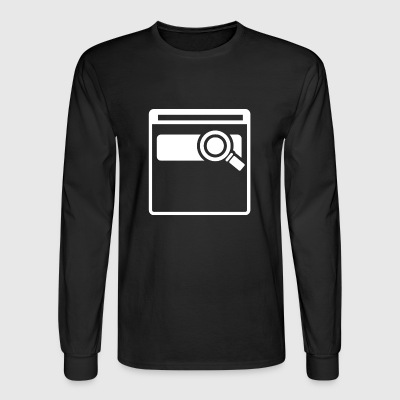 Web Searching - Men's Long Sleeve T-Shirt