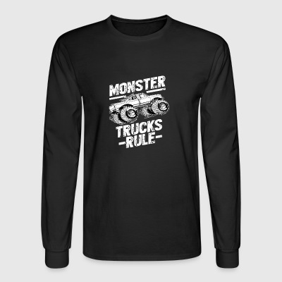 MONSTER TRUCKS RULE Tshirt - Men's Long Sleeve T-Shirt