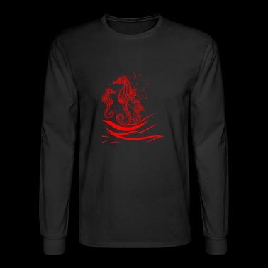 GIFT - SEA HORSE RED - Men's Long Sleeve T-Shirt