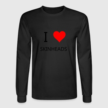 I love Skinheads - Men's Long Sleeve T-Shirt