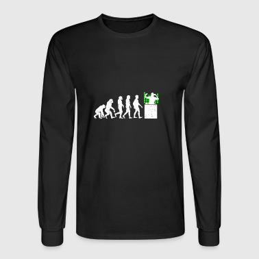Funny Disc Jockey Evolution - Men's Long Sleeve T-Shirt