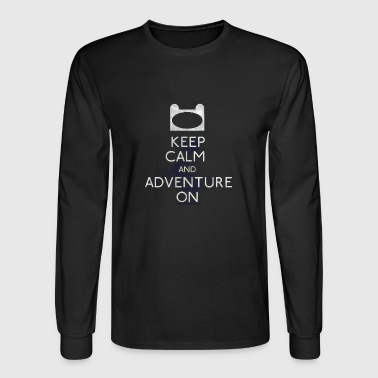 keep calm and adventure - Men's Long Sleeve T-Shirt
