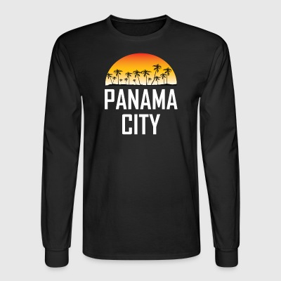 Panama City Florida Sunset Palm Trees Beach - Men's Long Sleeve T-Shirt
