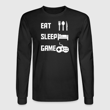 Eat Sleep Game Funny Video Games Gamer Gaming - Men's Long Sleeve T-Shirt