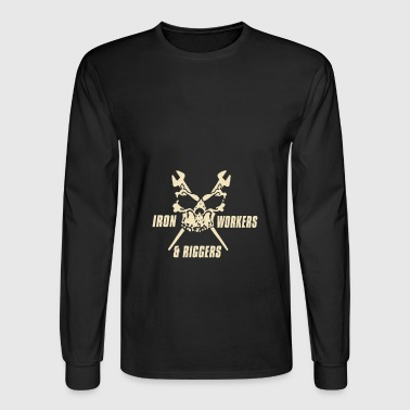 Iron workers and riggers skull - Men's Long Sleeve T-Shirt