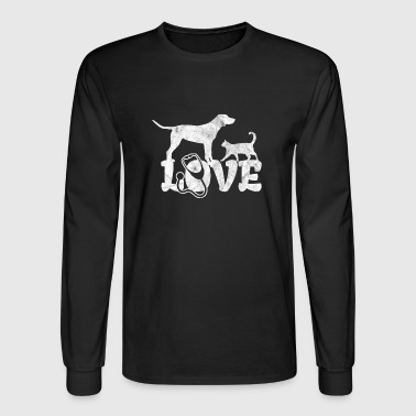Love veterinarian shirt with dog and cat as a gift - Men's Long Sleeve T-Shirt