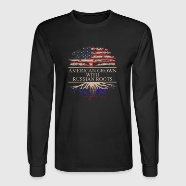 American grown with russian roots - Men's Long Sleeve T-Shirt