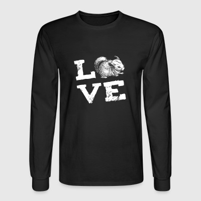 Chinchilla Rodent Love Gift - Men's Long Sleeve T-Shirt
