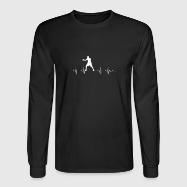 Boxing Heartbeat T-Shirt. Costume Ideas - Men's Long Sleeve T-Shirt