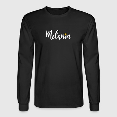 melanin stroke black - Men's Long Sleeve T-Shirt