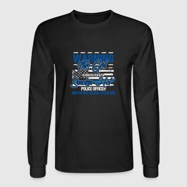 Warning This girl is protected police officer gift - Men's Long Sleeve T-Shirt