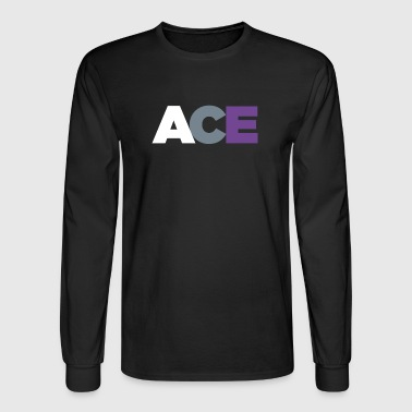 ACE - Asexual Pride Flag Colors - Men's Long Sleeve T-Shirt