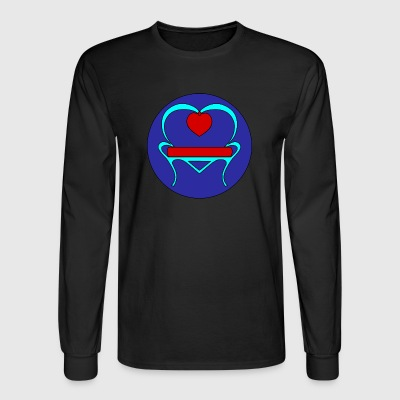 Turquoise Love Seat - Men's Long Sleeve T-Shirt