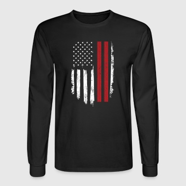 Racing Gift Distressed American Flag - Men's Long Sleeve T-Shirt