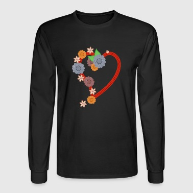 rotes herz red heart valentine valentinstag liebe1 - Men's Long Sleeve T-Shirt