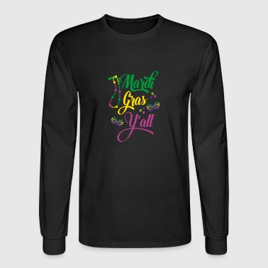 funny mardi gras shirt - Men's Long Sleeve T-Shirt