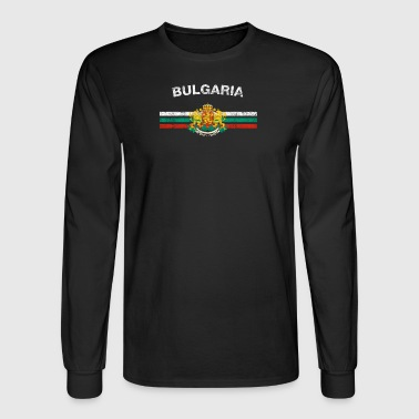 Bulgarian Flag Shirt - Bulgarian Emblem & Bulgaria - Men's Long Sleeve T-Shirt