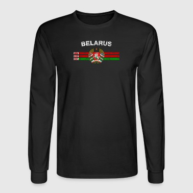 Belarusian Flag Shirt - Belarusian Emblem & Belaru - Men's Long Sleeve T-Shirt