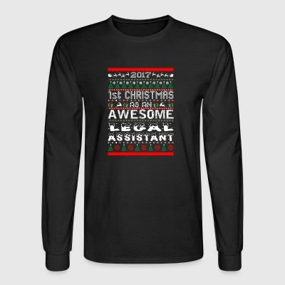 2017 1st Christmas Awesome Legal Assistant - Men's Long Sleeve T-Shirt