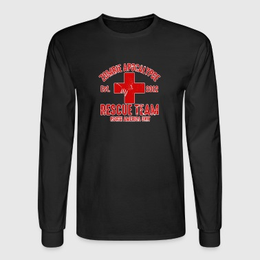 zombie help team - Men's Long Sleeve T-Shirt