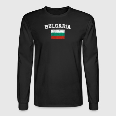 Bulgarian Flag Shirt - Vintage Bulgaria T-Shirt - Men's Long Sleeve T-Shirt