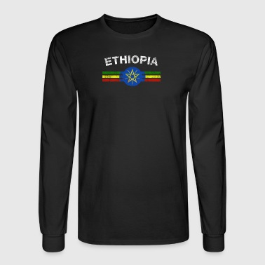 Ethiopian2 Flag Shirt - Ethiopian2 Emblem & Ethiop - Men's Long Sleeve T-Shirt