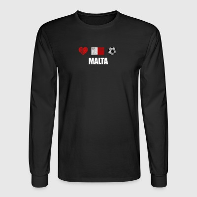 Malta Football Shirt - Malta Soccer Jersey - Men's Long Sleeve T-Shirt