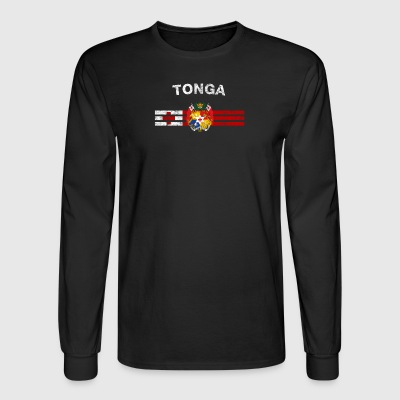 Tongan Flag Shirt - Tongan Emblem & Tonga Flag Shi - Men's Long Sleeve T-Shirt