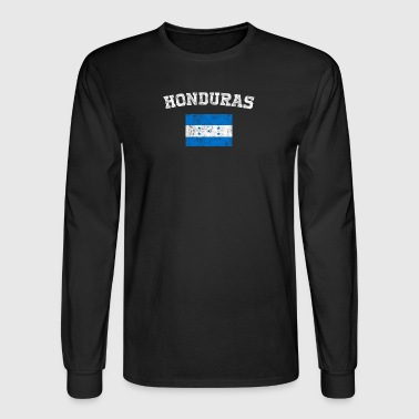 Honduran Flag Shirt - Vintage Honduras T-Shirt - Men's Long Sleeve T-Shirt