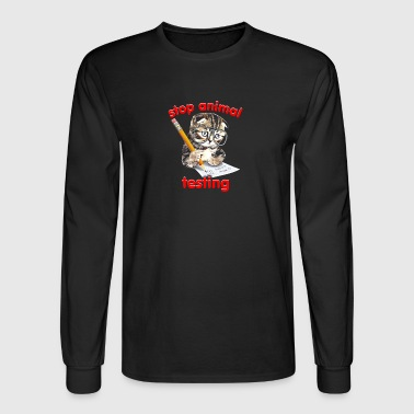 Stop Animal Testing - Men's Long Sleeve T-Shirt