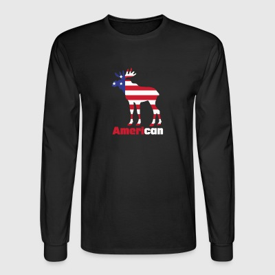 American Moose funny tshirt - Men's Long Sleeve T-Shirt