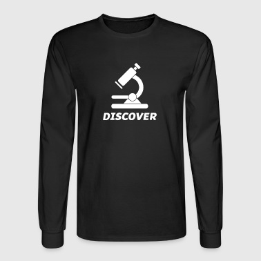 Cool Biology Science Microscope - Men's Long Sleeve T-Shirt