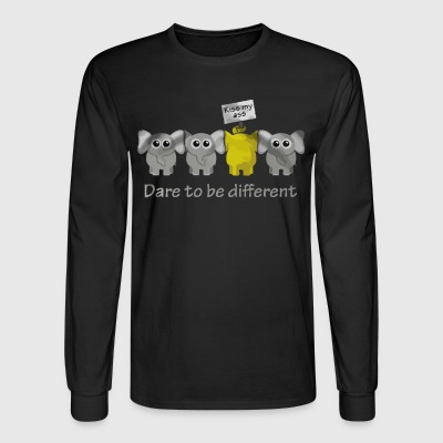 Elephant Dare to be different - Men's Long Sleeve T-Shirt