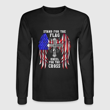 Stand For The Flag Kneel For The Cross - Men's Long Sleeve T-Shirt