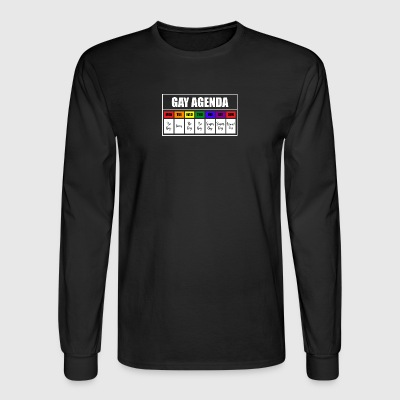 lgbt gay agenda t shirt - Men's Long Sleeve T-Shirt