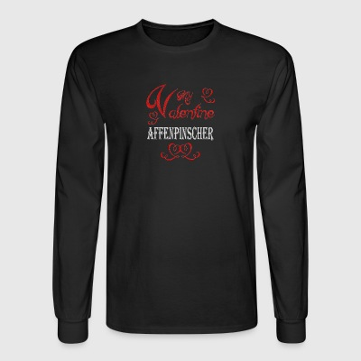A romantic A romantic Valentine with my Affenpinsc - Men's Long Sleeve T-Shirt