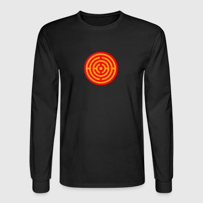Red and Yellow Target Labyrinth - Men's Long Sleeve T-Shirt