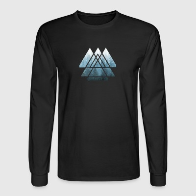 Sacred Geometry Triangles Misty Forest - Men's Long Sleeve T-Shirt
