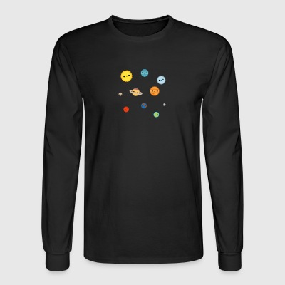 Solar system, Cute Solar System - Men's Long Sleeve T-Shirt
