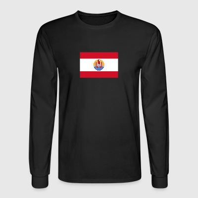 National Flag Of French Polynesia - Men's Long Sleeve T-Shirt