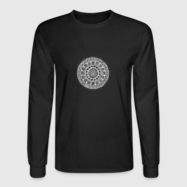 mandala white - new art - Men's Long Sleeve T-Shirt